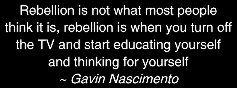 Rebellion is not what most people think it is