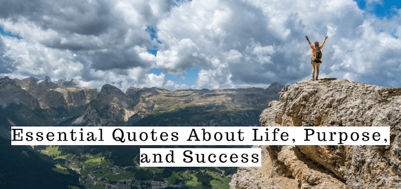 Quotes About Life, Purpose, and Success