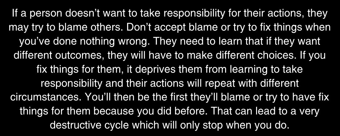 take responsibility for your actions